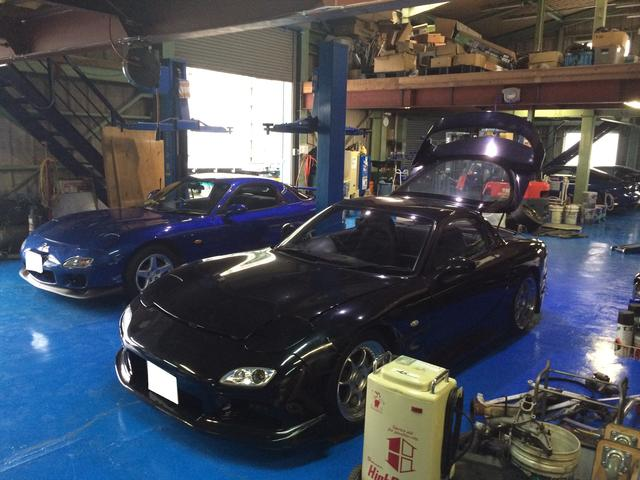 RX-7以外でも修理、車検、メンテナンスは可能です。お気軽にお問い合わせ下さい。認証指定工場安心整備