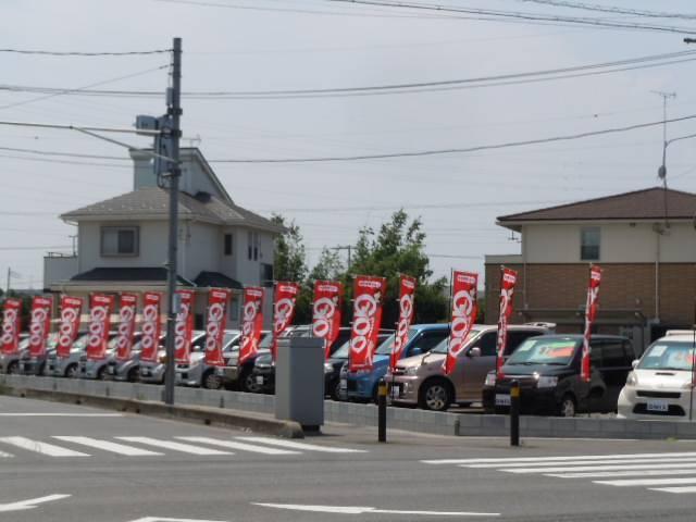 国道254号線沿いに展示場がオープンしました!「石田・府川交差点」の角地です。