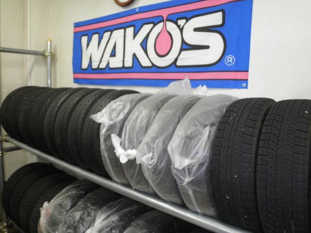 ワコーズ製品取り扱い、タイヤお預かりも承ります。