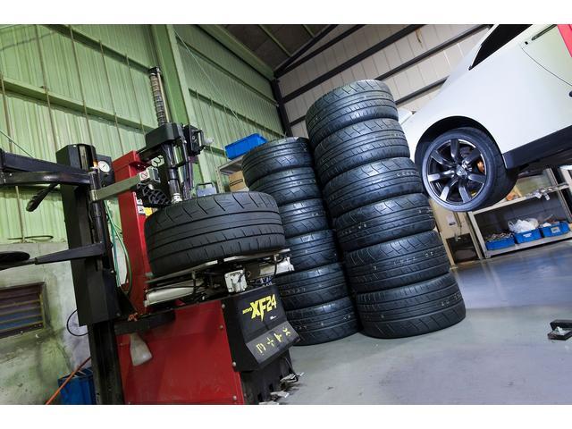 GT-R等ランフラットタイヤチェンジャーを完備!GT-Rタイヤの販売&取り付けもお任せください!