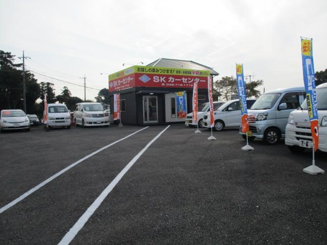 金崎店全景。軽自動車で、お求めやすい価格でまとめております。