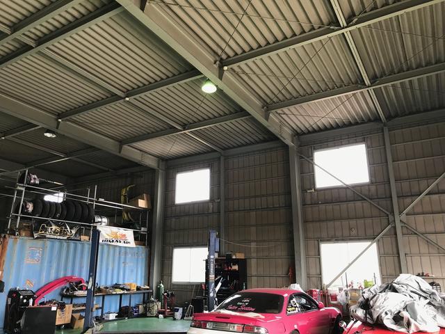 工場内観。10月に広々とした工場へ移転しました。