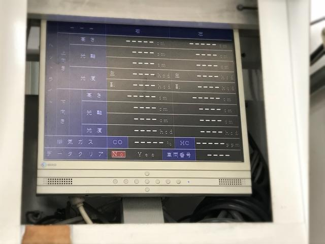 オートテスター完備で車検データの管理をしてます・