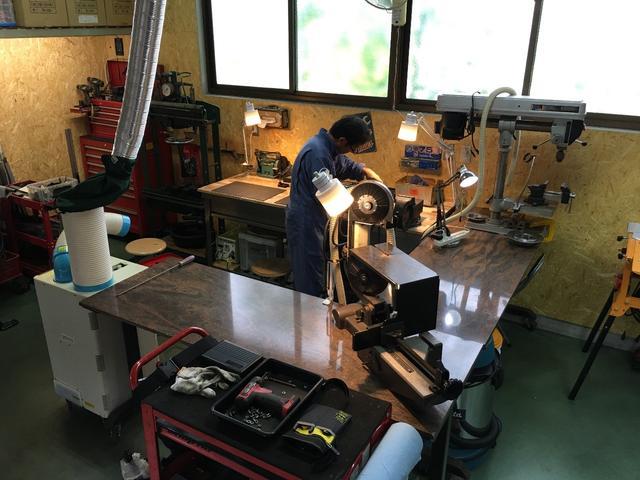 作業場:加工や溶接も出来ます
