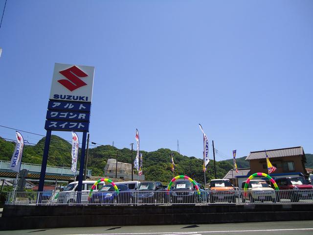 国道414号を松崎方面から下田駅方面へ向かってください。伊豆急線の線路ガードの手前にございます!