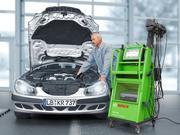 各輸入車の専用診断機でお車をチェックいたします。