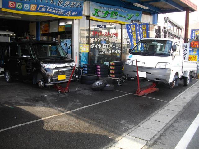 軽自動車やトラックのタイヤ交換も大歓迎です!!
