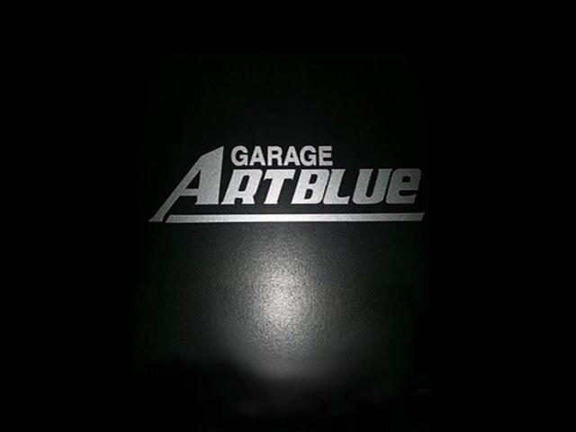 ガレージ アートブルー