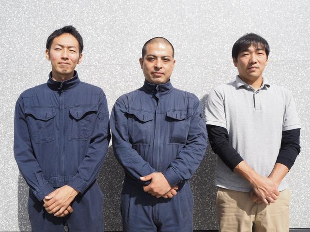 ■整備担当の大串、川村、石田です。