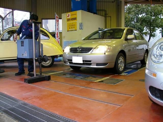 車検検査ライン完備☆指定工場ならではの設備で自社工場での車検検査が可能!