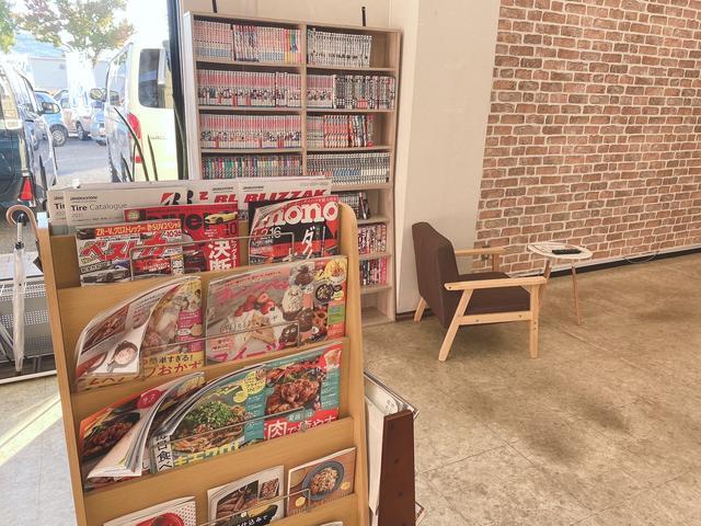 待ち時間に雑誌やコミックをたくさんご用意いたしておりますのでゆっくりとした時間をお楽しみください♪