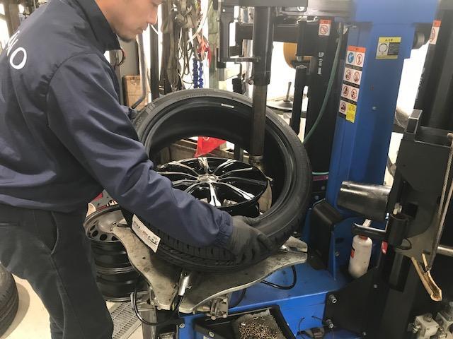タイヤの取り付けおまかせください