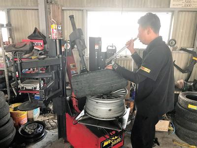 持込タイヤ取り付け致します!