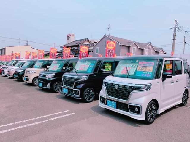 県道22号線(40m道路)沿い、日岡バス停前にハイブリッド車専門の日岡展示場がございます。