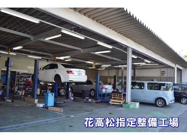 【花高松指定工場】自社の陸運局指定整備工場(民間車検工場)。ご購入後のメンテナンスもお任せ下さい。
