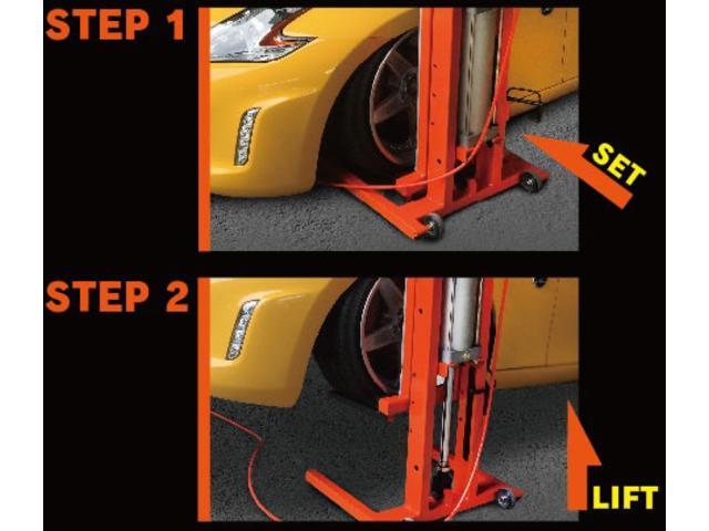 車高が引くいお車も対応できるようにシャコタンリフトも完備しております。