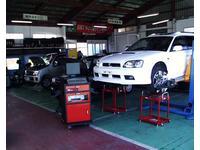 自社民間車検工場で安心整備☆ホイルアライメントもありますよ!自動車の事は何でもおまかせ♪