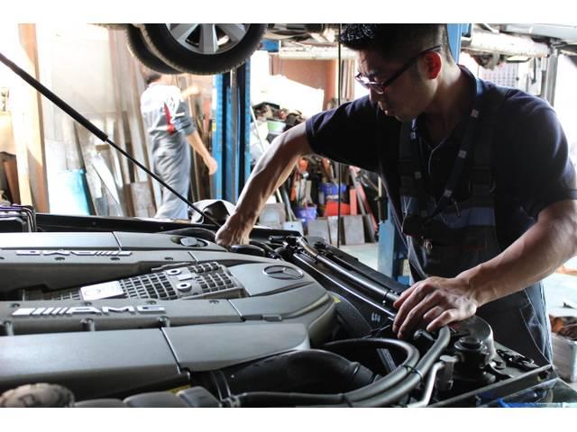 輸入車に合わえた技術を持ち合わせ、適切な整備を行います!