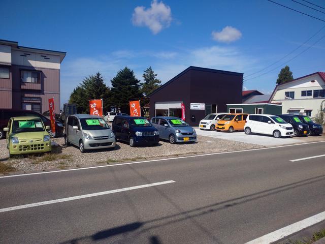 秋田県美郷町六郷にございます!当社では格安の軽自動車を中心に展示しております!