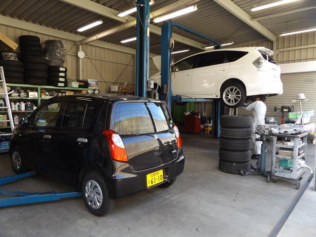 併設の整備工場にて、オイル交換、冬タイヤの履き替え、車検等ご購入後もお客様の力になります♪