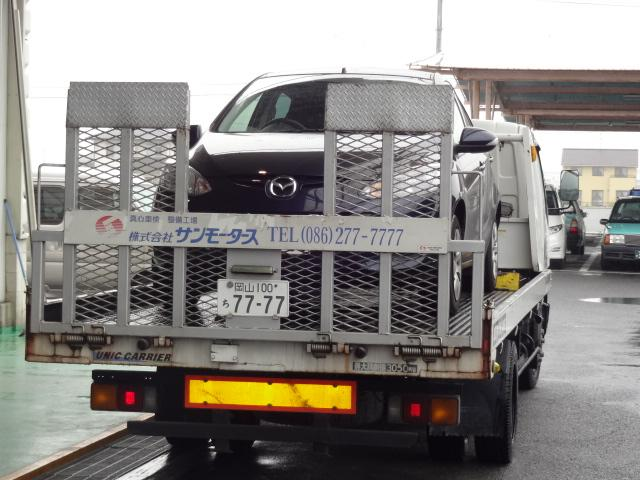 積載車による引取り、納車も可能です。ご相談ください。