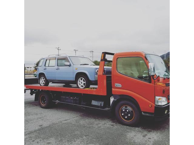 積載車も完備しておりますので、納車や引き取りなどにも対応致します!!