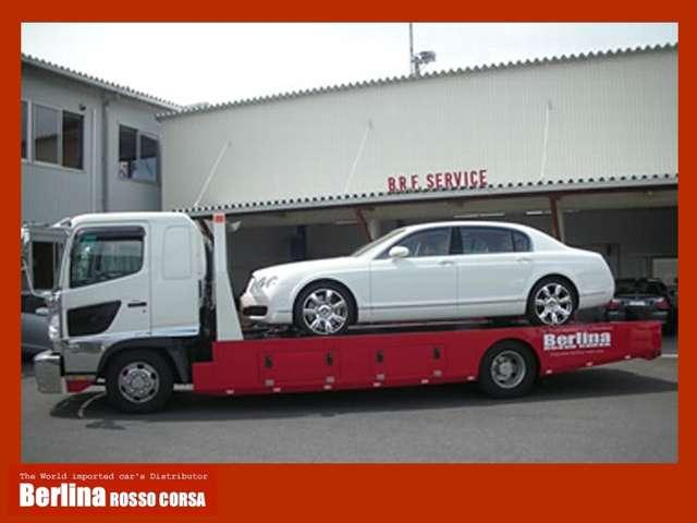積載車はコンパクトカー~スーパーカーまで対応できる様準備しております
