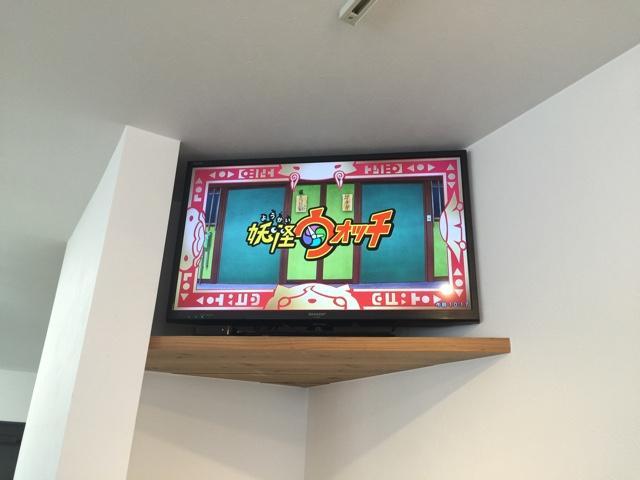いつご来店頂いても、妖怪ウォッチやポケモンなどお子様に大人気のテレビ番組を見て頂けます!