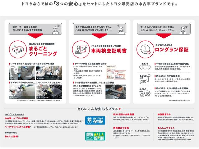 トヨタ認定中古車の3つの安心 車両検査書 まるごとクリーニング ロングラン保証