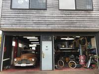 天気の良い日はガレージもOPENにして作業しております。お気軽に遊びに来て下さい。