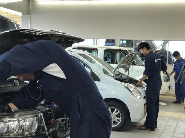 北信越運輸局指定の自社工場で納車前の点検整備を実施!車検項目以外も点検し消耗箇所があれば交換します。