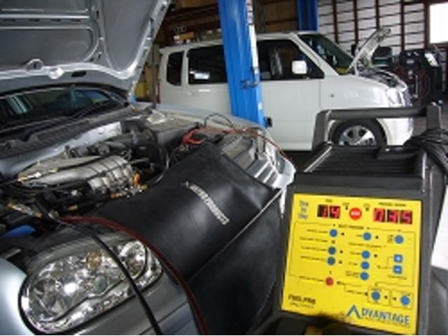 エンジンの燃料系統を綺麗にする洗浄機を完備しております。長く快適に乗るための機器です。