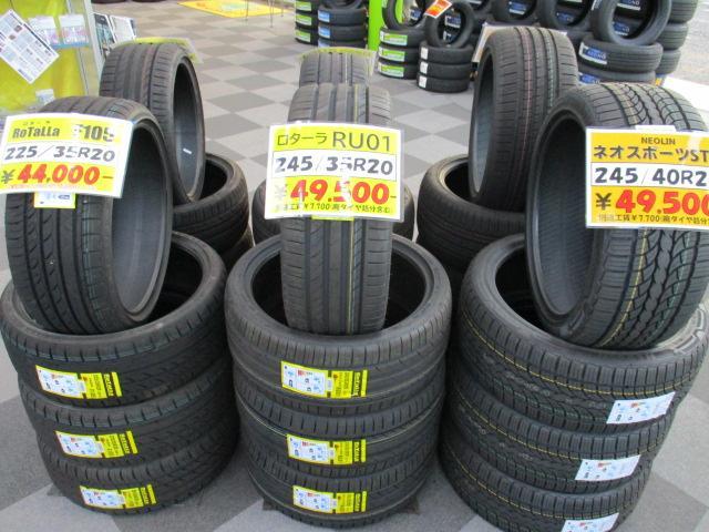 インチアップサイズの輸入タイヤも在庫あり!