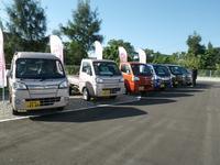 反対側の第二展示場には、商用車を並べております!新車から未使用車まで多数取り扱っております♪
