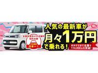 やっぱり新車に乗りたい。。。そんな皆様の想いに答えたい。月々1万円から乗れるプランもございます!!