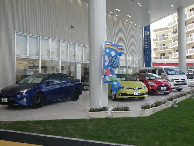 最新モデルの新車も展示中、色んなサービスをご提供する沖縄トヨペット国場店を宜しくお願い致します!!