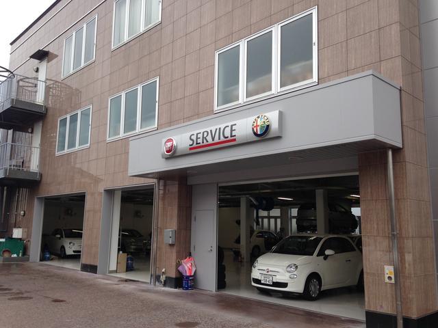 アルファロメオ・フィアットのサービス工場にアバルトのサービスポイントも始めました。