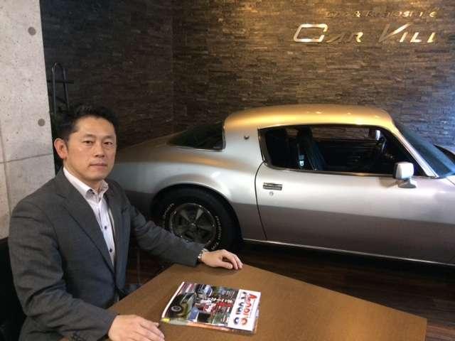 弊社代表の橋本です。とにかく車好き洋画好きの方、待ってます。