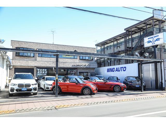 本社前展示場です。高年式のBMWやコンパクトなサイズの車輌をメインに展示しております。