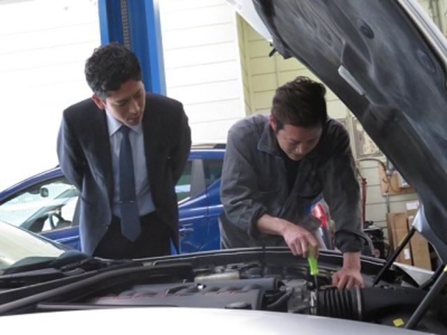 お客様の大切なお車は、最新の専用工具で、ここで整備されています。もちろんGM指定工場です。