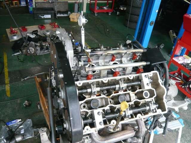 (修理&整備日誌NO.1)アルファV6エンジン、タイミングベルト交換作業